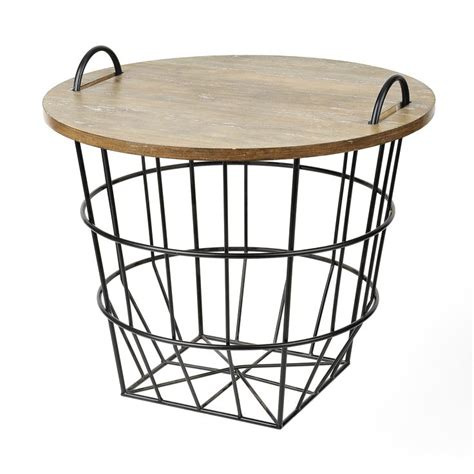 wire and wood basket side table 1000 images about farmhouse style on word