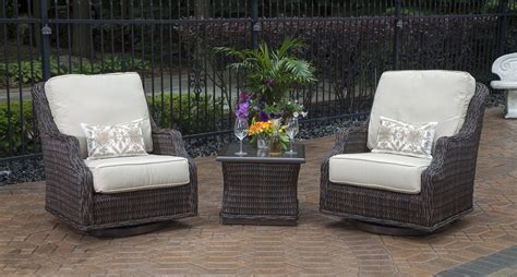 Wicker Outdoor Patio Furniture Sets Mila Collection 2 Person All Weather Wicker Patio Furniture Chat Set W Swivel Chairs
