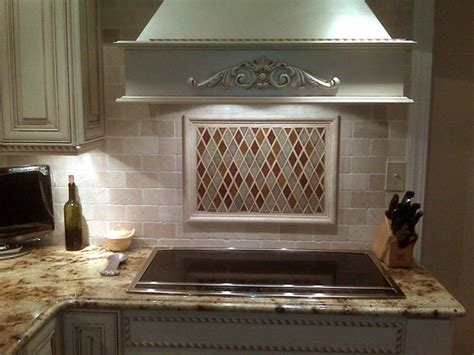 tumbled marble backsplash tiles crackled glass tumbled marble fuda tile