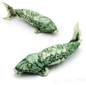 Cool Dollar Origami - lonewolf cool animal money origami