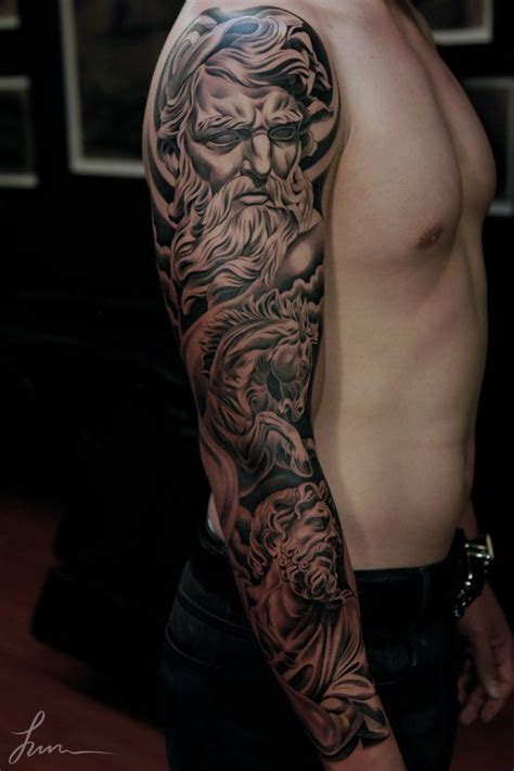 greek god sleeve tattoos collection of 25 mythology sleeve design for