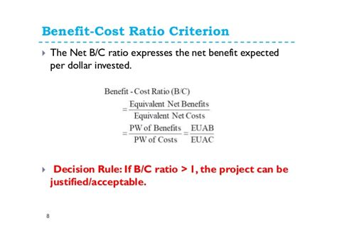 Unit Credit Benefit Formula 9 Benefit Cost Analysis