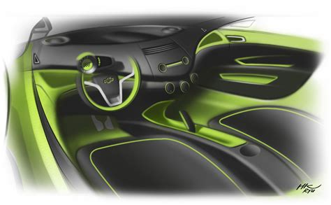 interior design cars chevrolet spark interior design sketch car design