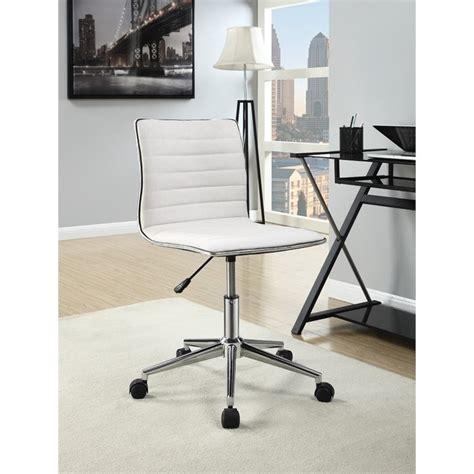 sleek office furniture coaster sleek office chair in and chrome 800726