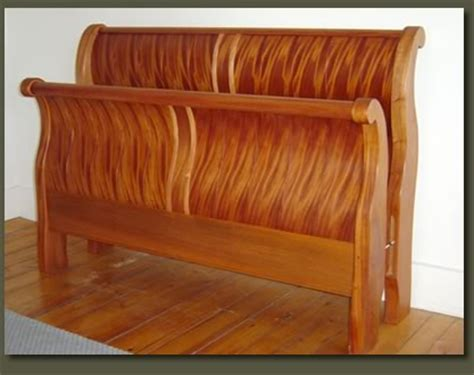 Handmade Sleigh Bed - mahogany furniture at the galleria
