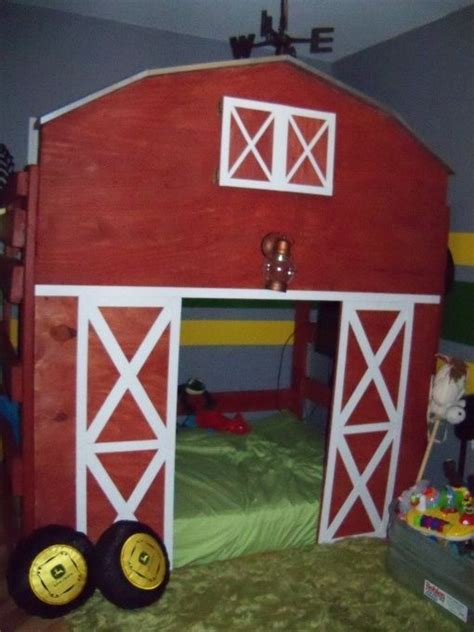 the tractor room i m thinking a space ship with lights for small light up planets a tv and raised