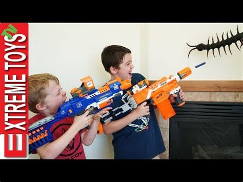 haunted doll attacks ethan centipede attack nerf battle with bug vs ethan