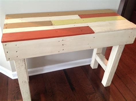 Sofa Table Made From Pallets Sofa Table Made With Pallets Handy Craft Ideas