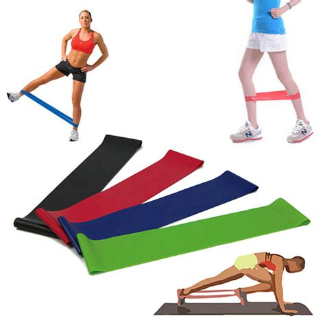 Resistance Band Pilates Exercise Stretch Fitness B Limited resistance band stretch exercise pilates strength fitness legs workout usqz ebay