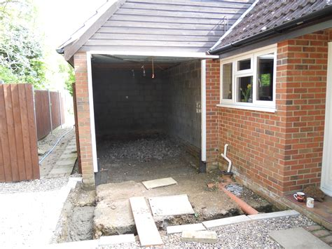 how to convert an integral garage into a room garage conversion and front entrance
