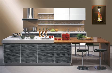 Modern Kitchen Cabinet With Wooden And White Countertops Decobizz.com
