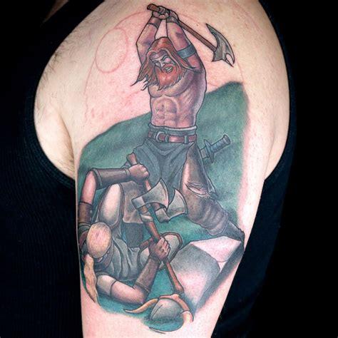elimination tattoo color realistic battle scene ink master