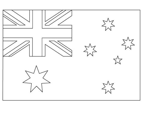 geography blog australian flag coloring page printable
