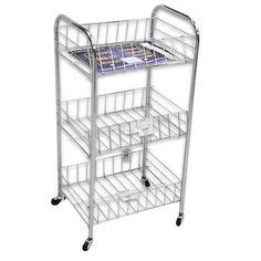 Small Storage Cart On Wheels Dagda Home Small Rolling Three Tier Storage Cart With