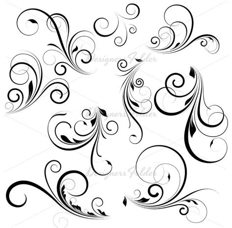 swirl pattern tattoo designs 98 best vine tattoo flourish scrolls swirl images on