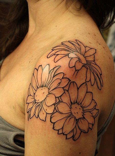 tattoo placement sleeve daisies like the placement and composition would do
