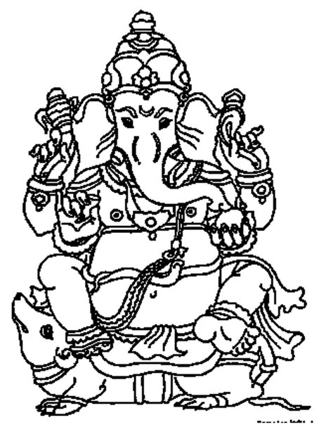 Ganpati Coloring Pages free coloring pages of ganesha modak