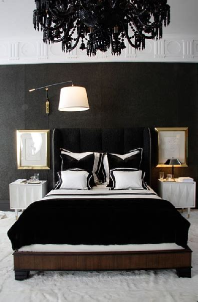 gold black and white bedroom black velvet headboard contemporary bedroom