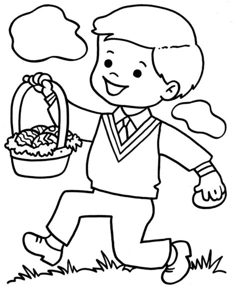 little boy colouring pages