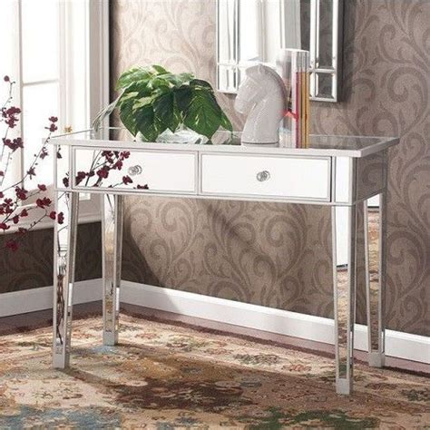 Bedroom Vanity Table Without Mirror by Vanity Desk Mirrored Console Table Mirror Drawers Makeup