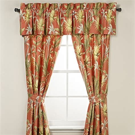 tommy bahama drapes buy tommy bahama 174 catalina window valance in tangerine