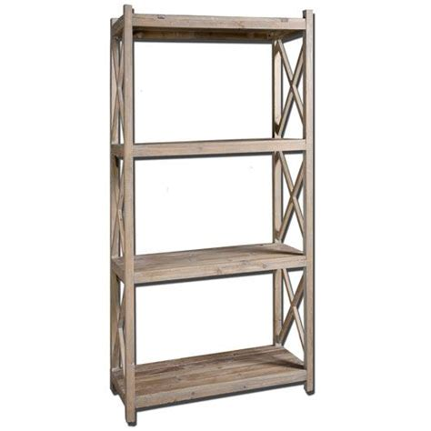 stratford fir wood etagere book shelf uttermost free