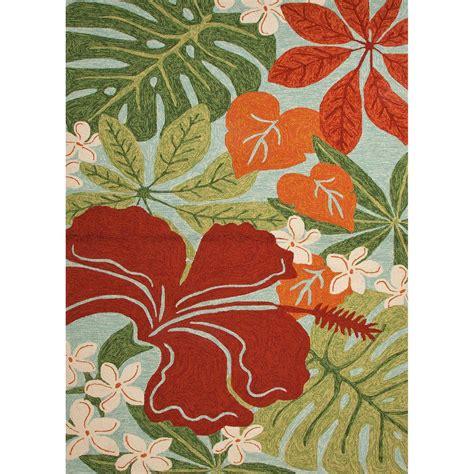 floral spray rug jaipur living luau surf spray 9 ft x 12 ft floral area rug rug129348 the home depot