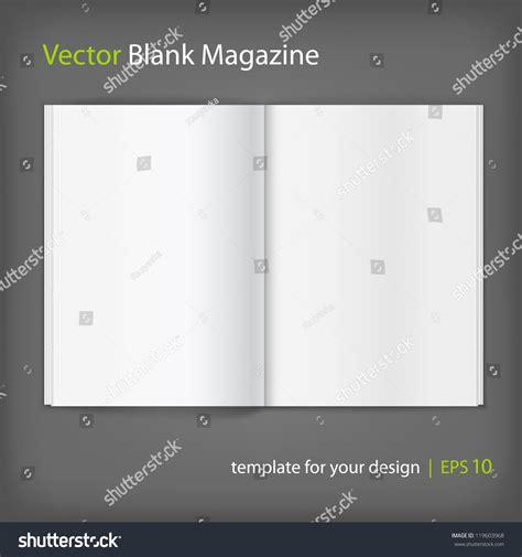 blank magazine spread template vector white blank magazine spread template for your design 119603968
