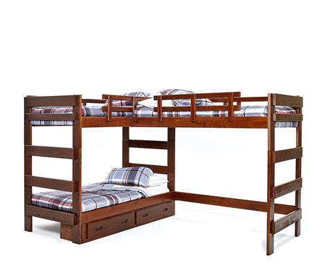 triple bed heartland l shaped triple loft bunk bed bunk bed for 3