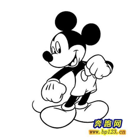 imagenes blanco y negro de mickey 米奇简笔画图片 卡通简笔画 奔跑网