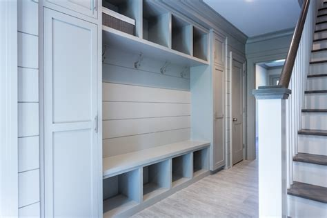 mudroom lockers with bench built ins grey mudroom built ins transitional laundry room sir
