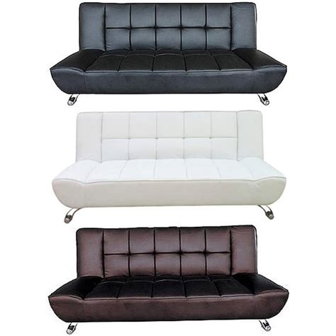 White Sofa Bed Leather Lpd Furniture Vogue Faux Leather Sofa Bed Available At Leader Stores