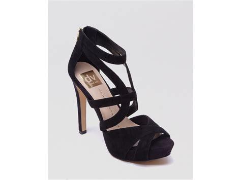 dolce vita dv platform sandals balla high heel in black lyst