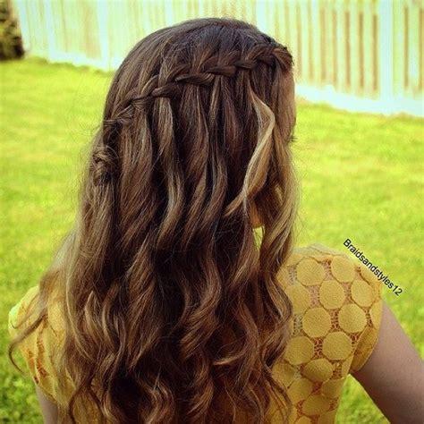 Waterfall Hairstyles by 20 Flowing Waterfall Braid Styles