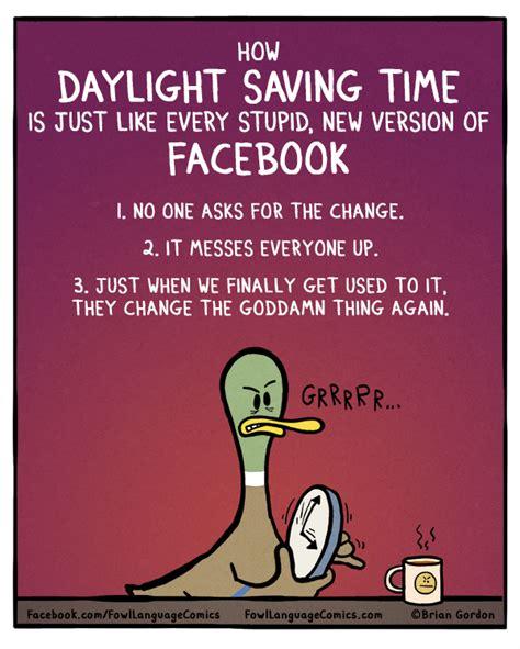 when is day light savings daylight saving time fowl language comics