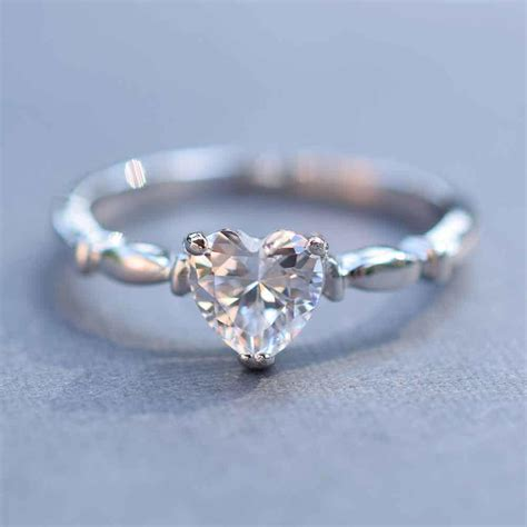 sterling silver simple cz promise ring s