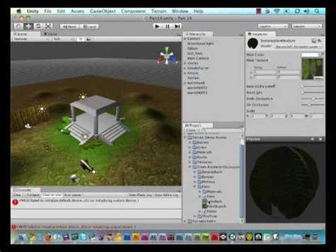 tutorial unity engine 19 unity game engine painting trees on terrain