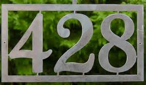 Decorative House Plaques Modern House Numbers Address Sign Custom Metal Work Ships