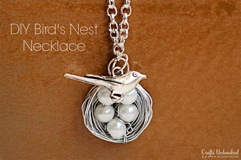 jewelry crafts for bird necklace tutorial make a wire wrapped nest charm