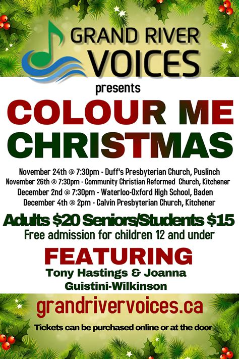 Calvin Presbyterian Church Kitchener by Colour Me Concert Series Grand River Voices