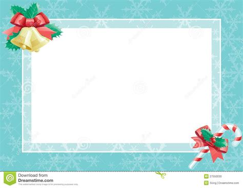 christmas card with empty blank for text stock vector