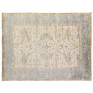 Blue And Ivory Rug by Ivory And Blue Washed Turkish Rug