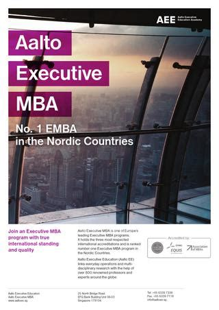 Mba In Scandinavian Countries by Aalto Executive Mba 2014 By Aalto Executive Education