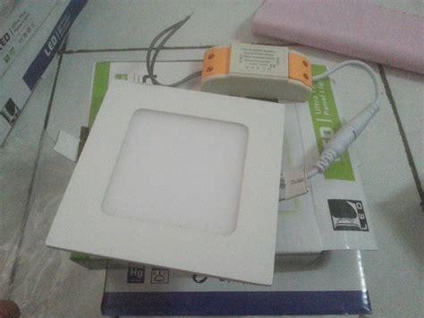 Jual Lu Downlight Kotak jual lu led panel downlight kotak bulat tanam 3 watt ber garansi lanjar jaya