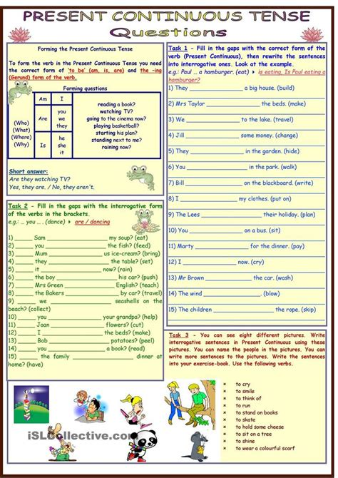 pattern for present continuous tense 267 best present continuous images on pinterest english
