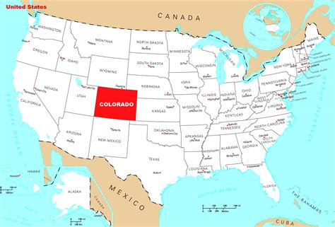 colorado united states map detailed location map of colorado state colorado state