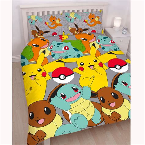 pokemon bedding set pokemon double duvet cover set new pikachu go kids bedding