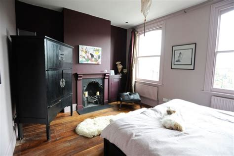 plum colored bedrooms eclectic bedroom by beccy smart photography