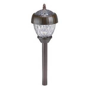 home depot solar path lights hton bay acorn 2 light solar pathway light set 6 pack