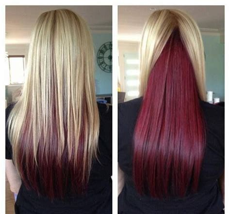 blonde on top dark on bottom hair color 1000 ideas about blonde underneath on pinterest blonde